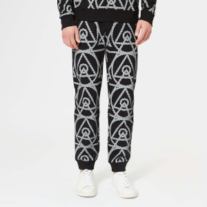 Avant L'Oeil Men's Logo Rope Print Joggers - Black