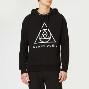 Avant L'Oeil Men's Centre Logo Hoody - Black