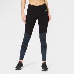 2XU Women's Fitness Mid Rise Compression Tights - Black/White