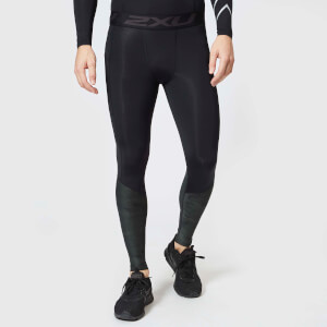 2XU Men's Accelerate Compression Tights with Storage - Black