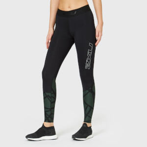 2XU Women's Accelerate Compression Tights with Storage - Black
