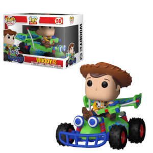 Toy Story - Woody mit Rennauto Pop! Ride Figur