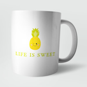 Life Is Sweet Pineapple Mug