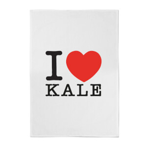 I Heart Kale Cotton Tea Towel