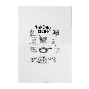 Pancake Recipe Cotton Tea Towel