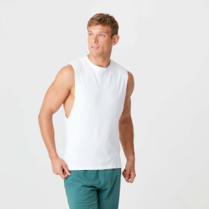 MP Men's Luxe Classic Drop Armhole Tank Top - White