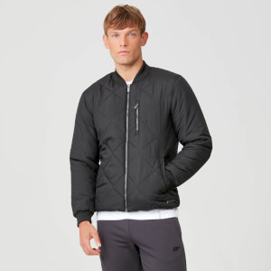 Pro-Tech Quilted Bomber Jacket - Black