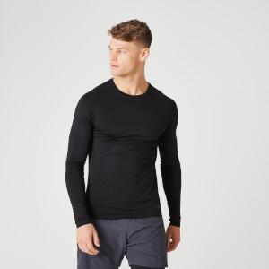Elite Seamless Long-Sleeve T-Shirt – Schwarz