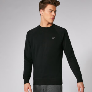 Myprotein Tru-Fit Crew Sweatshirt 2.0 - Black