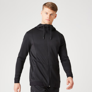 Sweat à capuche Luxe Therma  – Noir