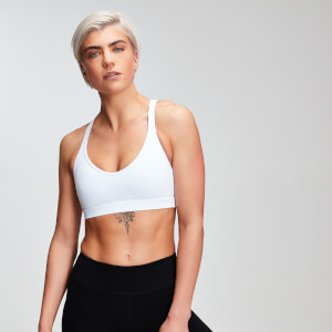 Power Mesh Sports Bra - White
