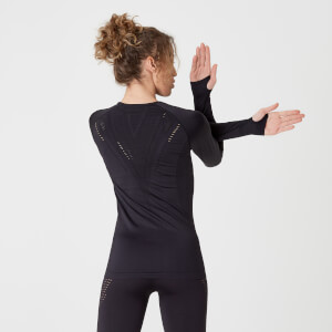 Myprotein Shape Seamless Long-Sleeve Top – Black