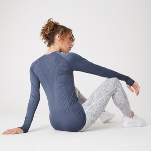 Myprotein Shape Seamless Long-Sleeve Top – Dark Indigo