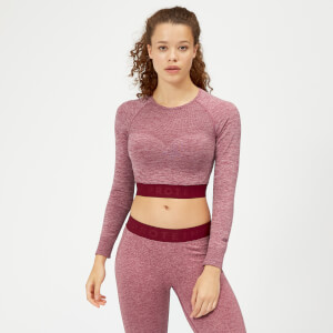 Inspire Seamless Crop Top - Dusty Rose