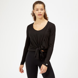 Twist Long Sleeve T-Shirt - Black