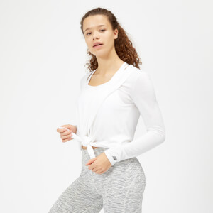 Myprotein Twist Long Sleeve T-Shirt - White