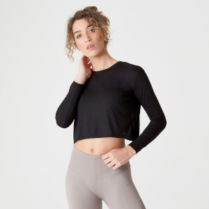 Spring Long-Sleeve T-Shirt – Black