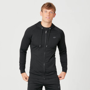 Form Zip Up majica s kapuljačom - Crna
