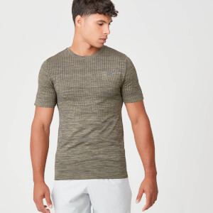 Myprotein Sculpt Seamless T-Shirt - Light Olive