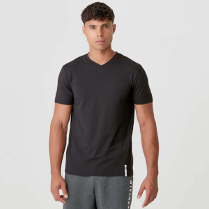 Luxe Classic V-Neck T-Shirt - Black