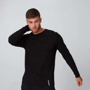 Luxe Classic Long Sleeve Crew - Black