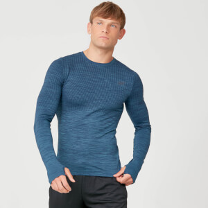 Seamless Long Sleeve T-Shirt - Petrol Blue