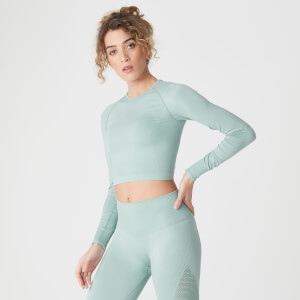 Myprotein Shape Seamless Crop Top Seafoam