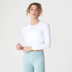 Shape Seamless Crop Top - Hvid