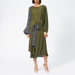 JW Anderson Women's Belted Polka Dot Sleeve Dress - Khaki