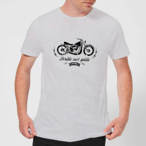 Smiley Thrills Not Spills Men's T-Shirt - Grey