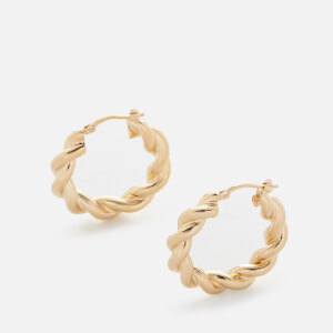 JW Anderson Women's Twisted Hoop Earrings - Gold