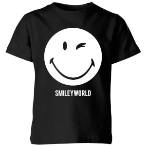 Smiley World Large Smiley Kids' T-Shirt - Black