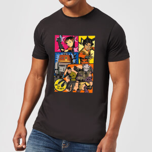 Star Wars Rebels Comic Strip Herren T-Shirt - Schwarz
