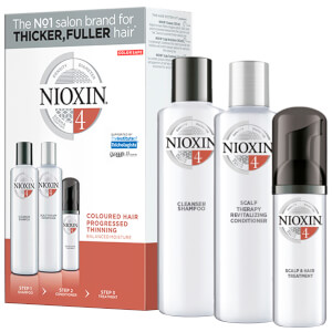 NIOXIN 3-Part System Trial Kit 4 for Colored Hair with Progressed Thinning -hiustenhoitosetti