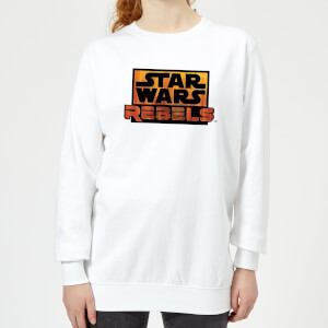 Sweat Femme Logo Star Wars Rebels - Blanc