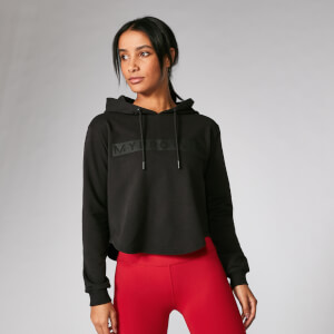 Myprotein The Original Cropped Hoodie - Black
