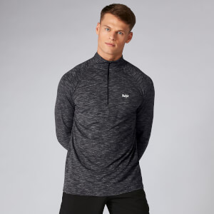 Haut Performance ¼ Zip - Noir Chiné