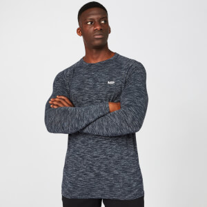 Performance Langærmet T-Shirt - Navy Marl