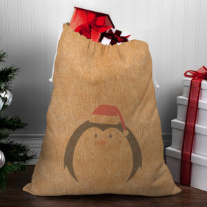 Penguin Face Christmas Sack