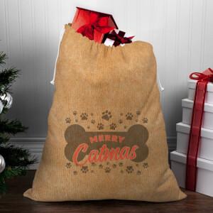 Merry Catmas Christmas Sack