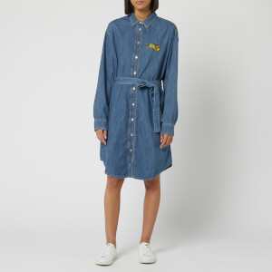 KENZO Women's Jumping Tiger Shirting Denim Dress - Ink