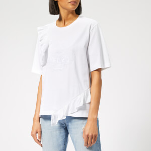 KENZO Women's Tiger T-Shirt with Ruffles - White