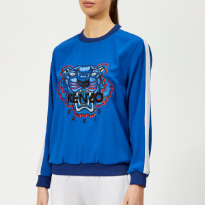 KENZO Women's Soft Sweater Tiger Embroidery - French Blue
