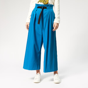 KENZO Women's Cropped Belted Pants - Cobalt