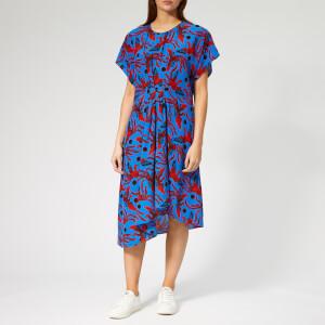 KENZO Women's Midi Asymmetric Dress - Cobalt