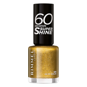 Rimmel 60 Seconds Glitter Nail Polish Oh My Gold