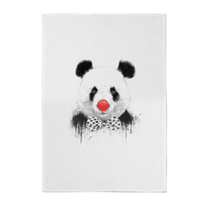 Balazs Solti Red Nosed Panda Cotton Tea Towel