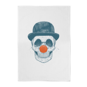 Balazs Solti Red Nosed Skull Cotton Tea Towel