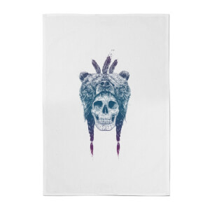 Balazs Solti Bear Head Cotton Tea Towel