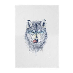 Balazs Solti Wolf Eyes Cotton Tea Towel